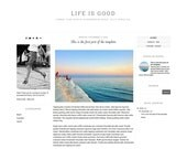 SALE Premade Blogger Template, Fashion Blogger Template - Responsive Blog Template, Simple and Clean Blog Design-Life is Good