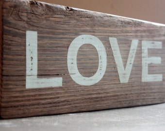 Love Sign Made From Barnwood