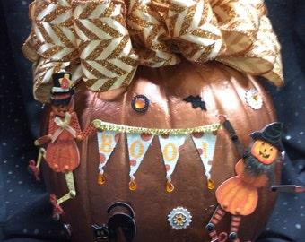 craft Halloween pumpkin