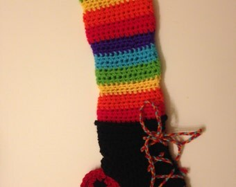 Rollerskate Christams Stocking- Rainbow