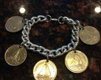 Bahamas 25 Cents Charm Bracelet