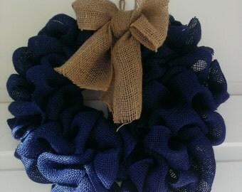 Burlap Wreath, Year round wreath, spring wreath, summer wreath