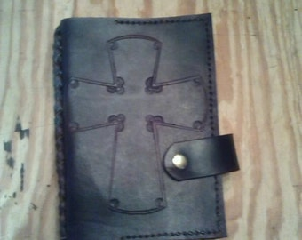 Leather Book Cover with Laced Spine