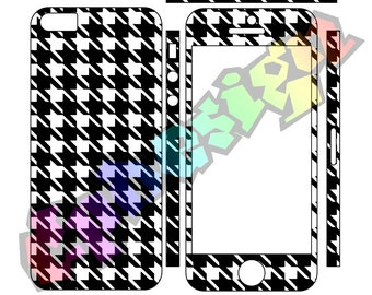Adhesive skins 5 5s Iphone Pie de poule