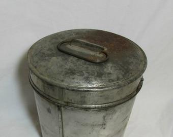 Vintage Cream Can, Tin, Farmhouse, Shabby chic, Rustic, 1940's