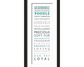 Goldendoodle Dog Word Art Print