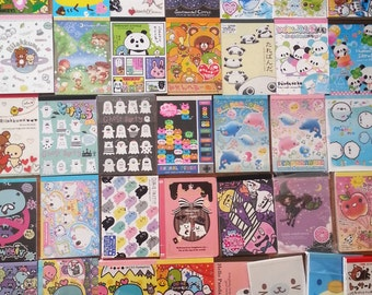 100 Piece KAWAII GRAB BAG!! Brand name Large Memo sheets and Mini Memo Sheets - Random Selection -