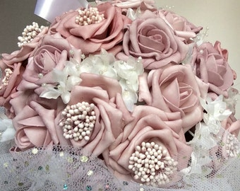 Dusky pink kissing ball, bridesmaid ball, flower girl kissing ball, wedding flowers, rustic wedding, alternative bouquet, keepsake bouquet