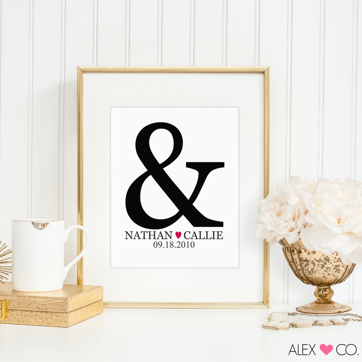 Personalized Wedding Gifts For Couple. By Alexandcoprintables