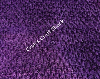 10 Inch Lined Eggplant Crochet Tutu Top / Tube Top / Dress Top
