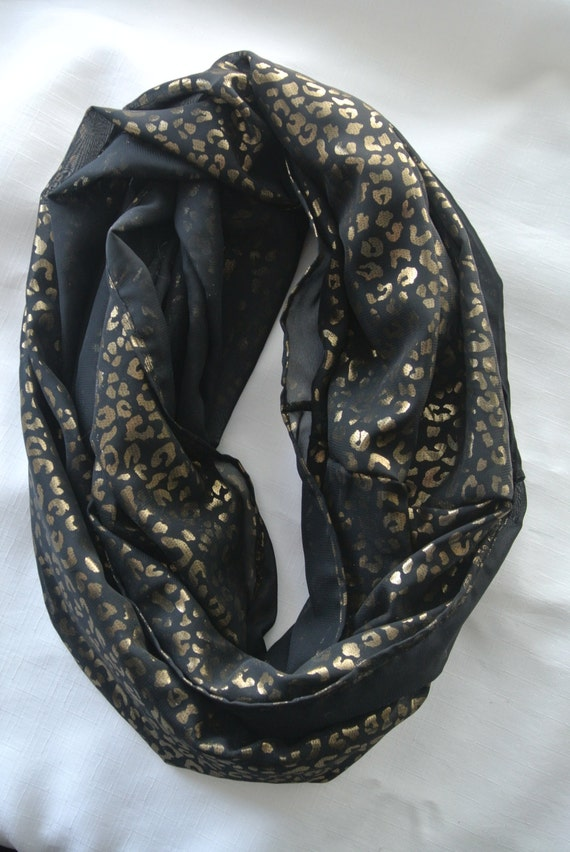 black and gold leopard print scarf black and gold scarf