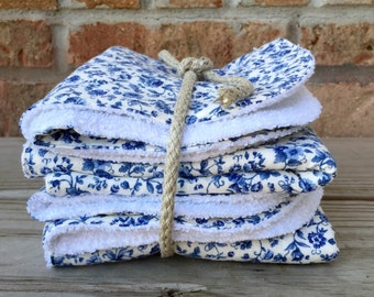 Cotton/terry wash cloths, dish cloths (Set of 4)