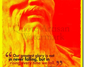 Confucius Original Art Print - 12x8 Inch Photo Poster Gift  Quote - Chinese History and Philosophy