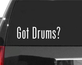 Drummer Vinyl Decal Sticker