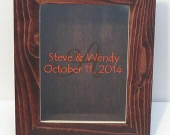 Personalized Wedding Sand Ceremony Shadow Box Display, Custom Wedding Gift, Wedding Accessory, Decoration
