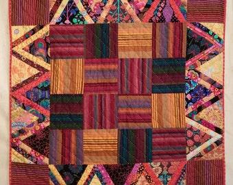 """KAFFE FASSETT Quilt  """"Autumn Leaves"""" Table Topper"""