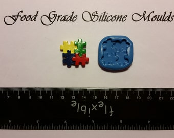 Autism Awareness Food Safe Super Flexible Silicone Mould / Mold
