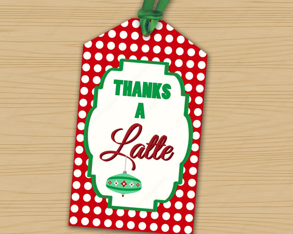 This is an image of Mesmerizing Thanks a Latte Christmas Printable