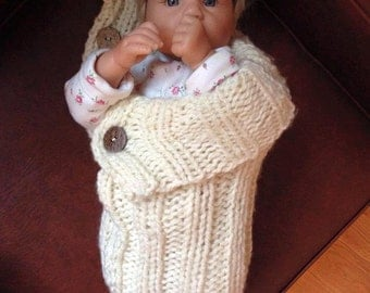 Handmade Knit Baby Cocoon Infant Newborn Swaddle Cozy