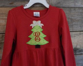 Toddler Girl Dress for Christmas, Girls red dress; Girls Christmas dress; Long sleeve red dress;