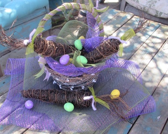 Easter Centerpiece Easter Basket Centerpiece Easter Egg Centerpiece Carrot Centerpiece Spring Centerpiece Easter Decor Spring Decor
