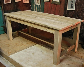 Reclaimed Kitchen Dining Table. Refectory Table Made From Reclaimed Timber
