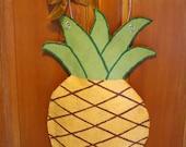 Southern Hospitality Pineapple Burlap Door Hanger