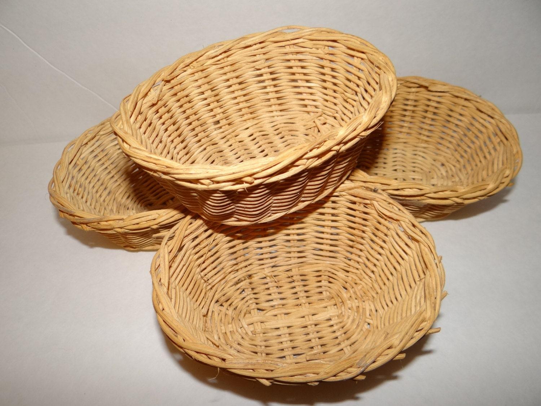 small wicker baskets set of 4. Black Bedroom Furniture Sets. Home Design Ideas