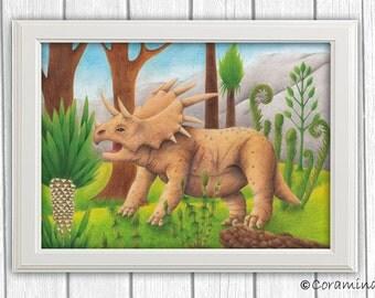 "Artprint ""Triceratops"""