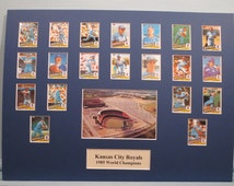 Honoring the Kansas City Royals - 1985 World Series Champions led by Hall of Famer George Brett& Bret Saberhagen