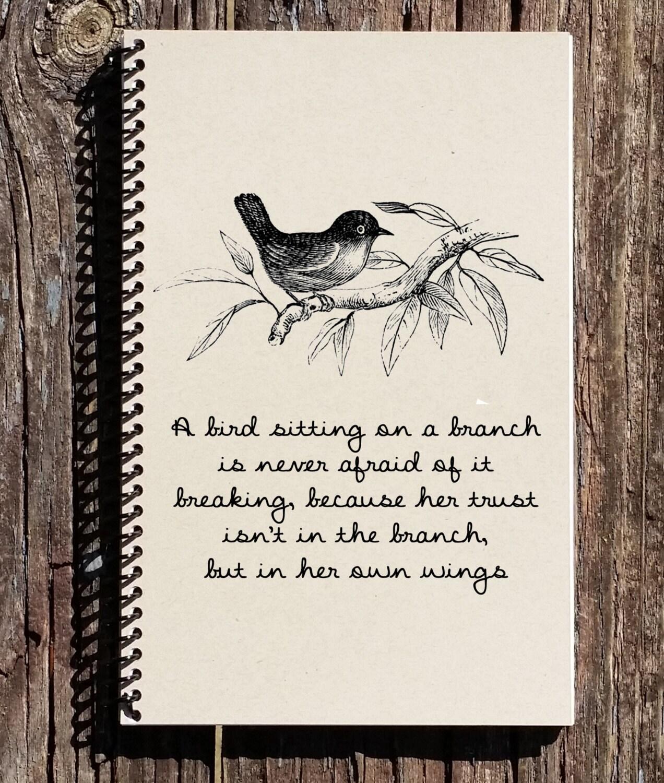 bird journal bird notebook inspirational quote journal