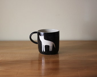 Made to order: Black Cat Silhouette Mug