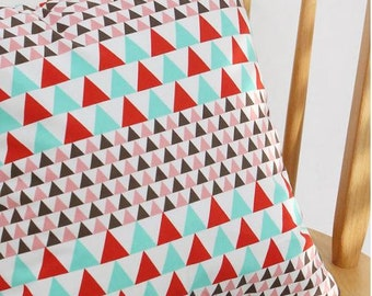 Vivid Triangle Pattern Cotton Fabric by Yard
