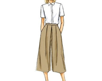 Butterick Sewing Pattern B6178 Misses' Pleated Culottes