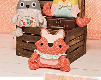 Simplicity Sewing Pattern 1182 Stuffed Animals and Monsters