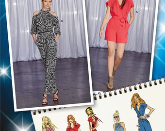 Misses Project Runway Jumpsuits Simplicity Pattern 1158