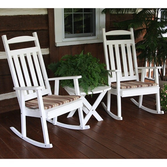 recycled plastic classic rocking chair. Black Bedroom Furniture Sets. Home Design Ideas