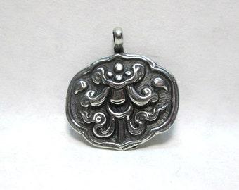Antiqued Medieval Pewter Medallion Pendant