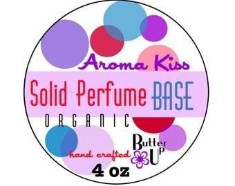 4 oz Organic Solid Perfume Base // Organic Beeswax Solid Perfume Base