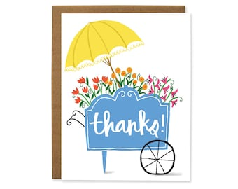 Flower Cart Thank You Card