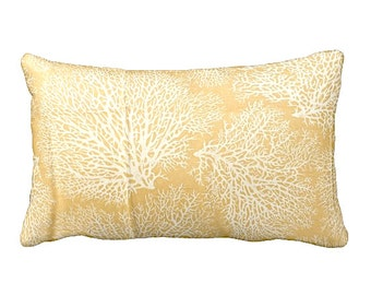 7 Sizes Available: Decorative Pillow Cover Throw Pillow Yellow Pillow Coral Pillow Yellow Home Decor Nautical Pillow Yellow Throw Pillow