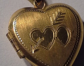 Vintage 12K GF Heart Shape Charm