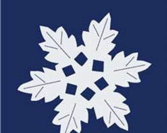 Snowflake Handcrafted Applique Garden Flag