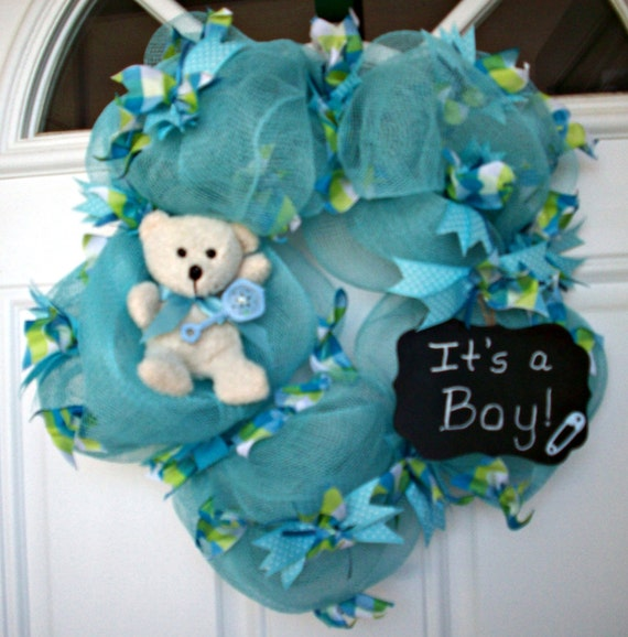 It S A Boy Wreath Baby Boy Wreath Baby Shower Wreath