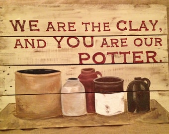 Potter and Clay Pallet Art