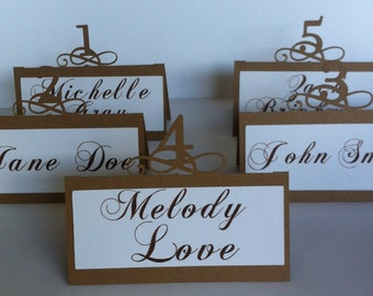 POP UP - CUSTOM - Wedding Place Cards