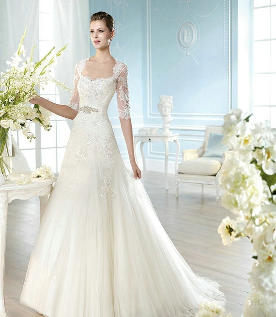 lace princess wedding dress