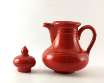 Vintage ceramic red tea pot