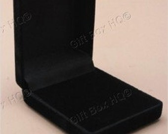 1 X Black Flocked Velvet Jewellery Box