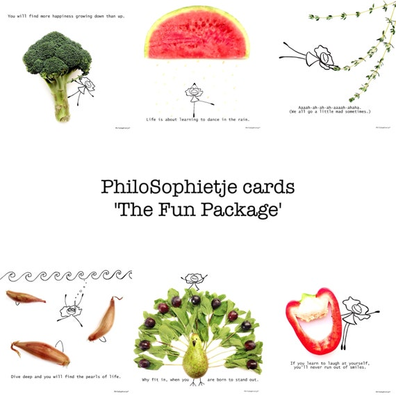 The PhiloSophietje® Fun Package: 12 different cards